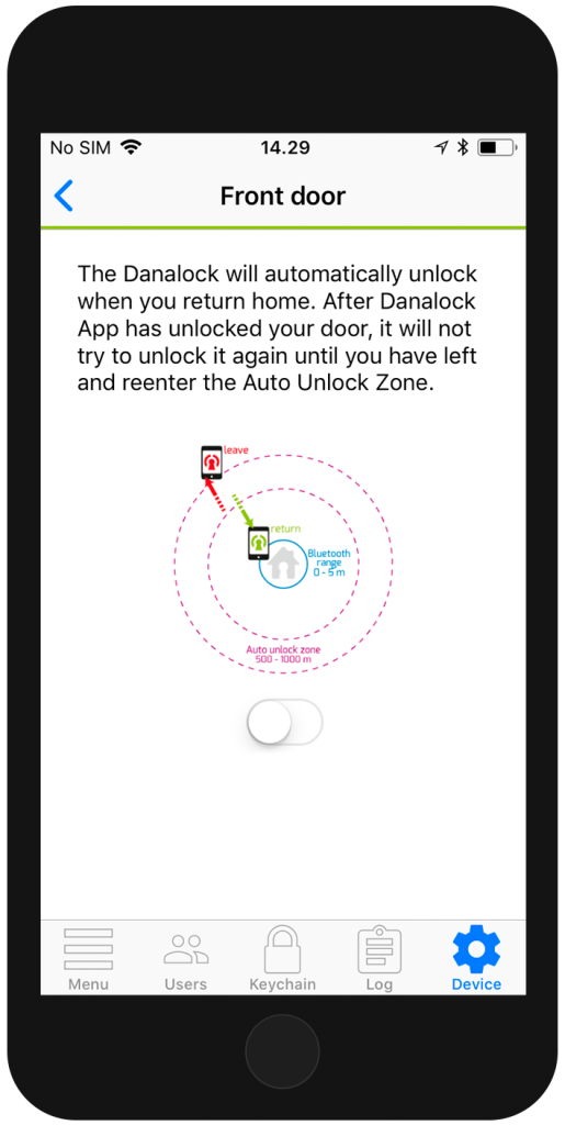 """Auto Unlock"" activation"