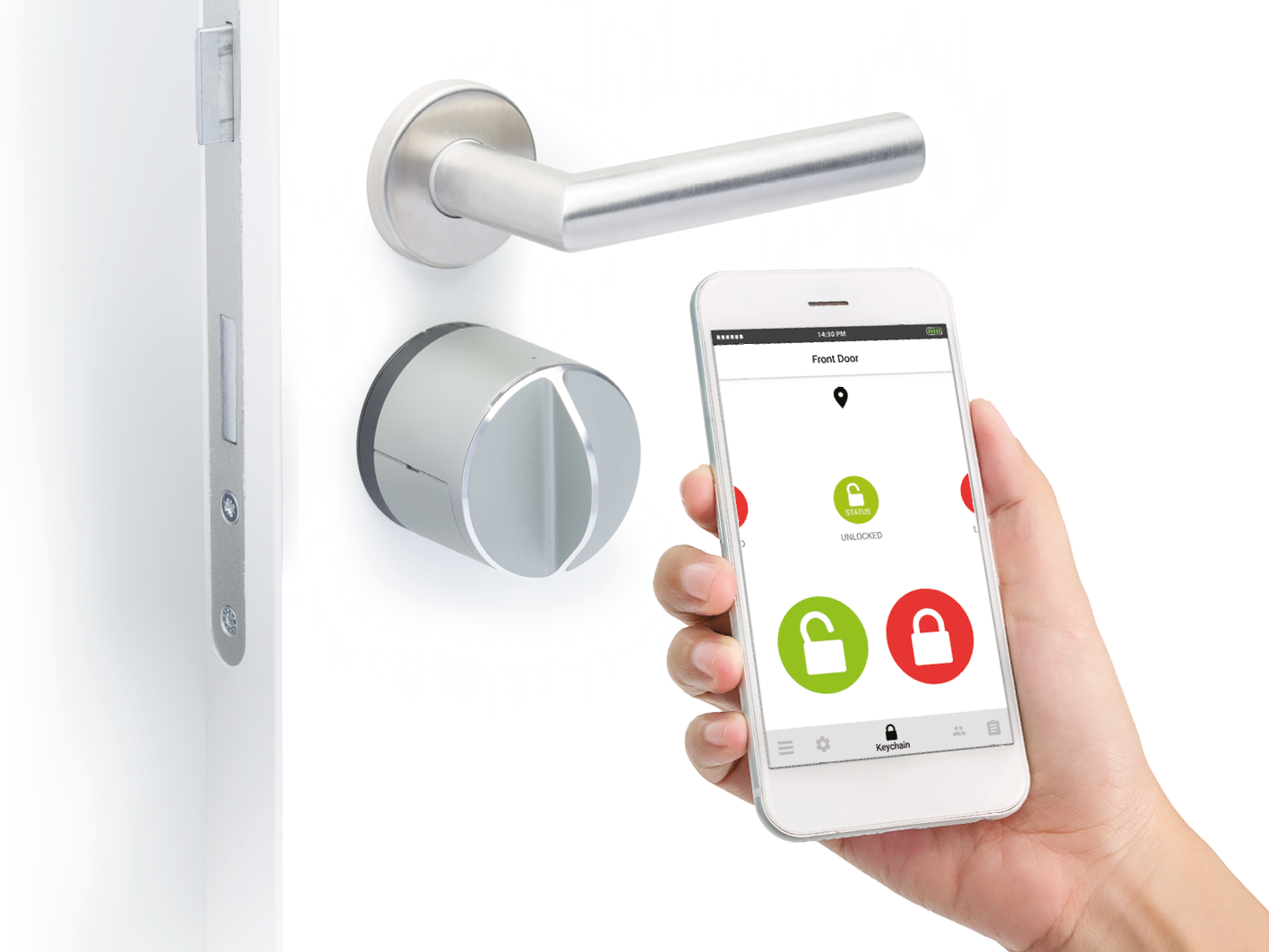 Danalock V3 smart lock and Danalock app